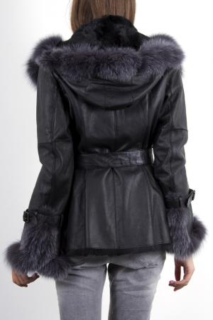Veste cuir avec fourrure