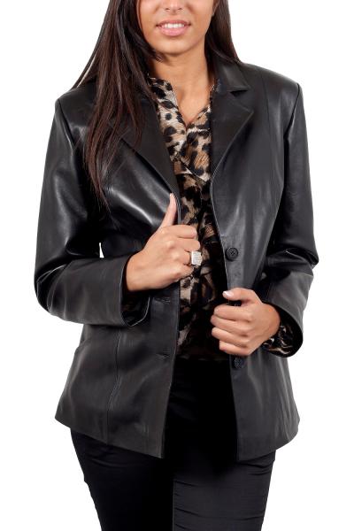 9a49d27c2015c Blazer en solde, -20%, GIORGIO Sandrine Noir - Milpau, la référence cuir