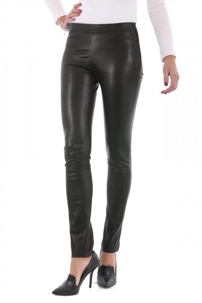 Pantalon Cuir Milpau Référence Noir Legging La Giorgio Oqwr0O