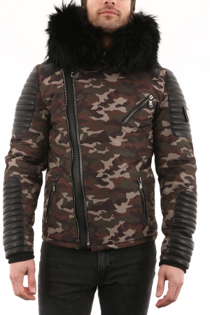 VENTIUNO Ekos Camouflage Col Noir