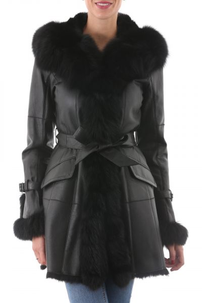 veste cuir intuition femme