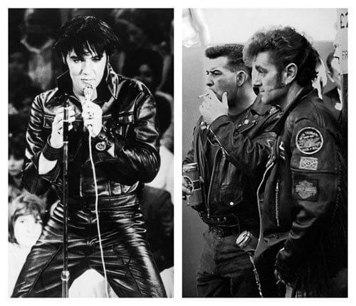 Elvis Presley en blouson cuir