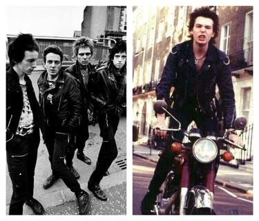 Blouson cuir des années punk
