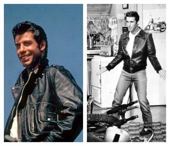 Travolta et Fonzie en blouson cuir