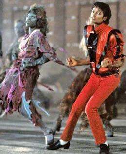 Blouson cuir Michael Jackson Thriller 1983
