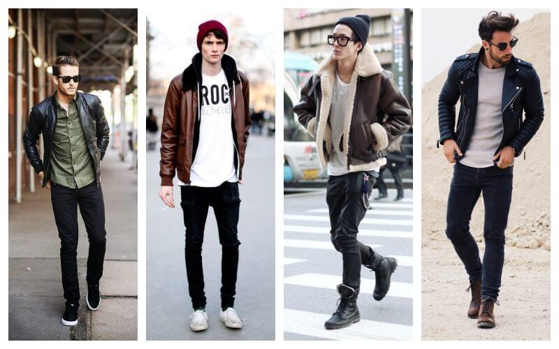 Style veste en cuir