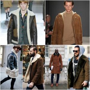 Tendance Homme : Une veste en peau lainée pour l'hiver